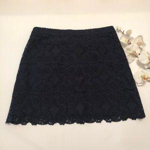 Hollister Junior's  Navy Blue Lace Skirt Size 7